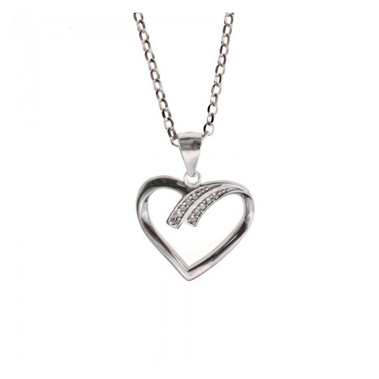 Zawieszka srebrna - serce