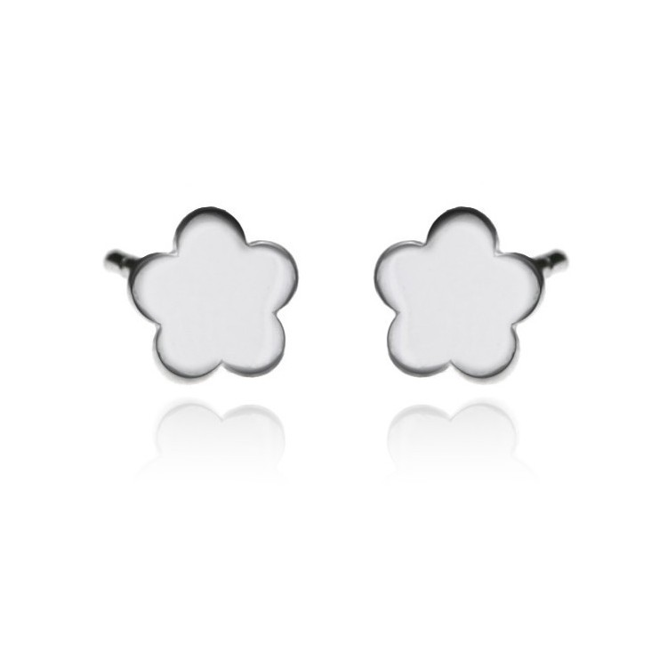 Kolczyki srebrne - kwiatki - 0008