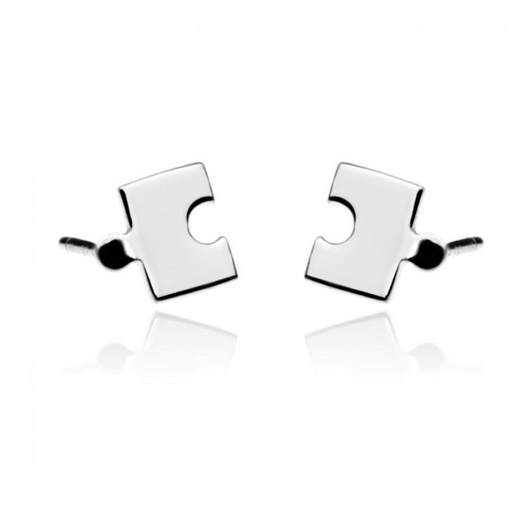 Kolczyki srebrne - puzzle
