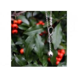 Celebrytka - krawatka srebrna - 0028