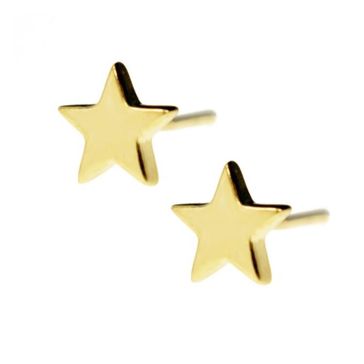 Kolczyki złote - gwiazdki - pr. 333