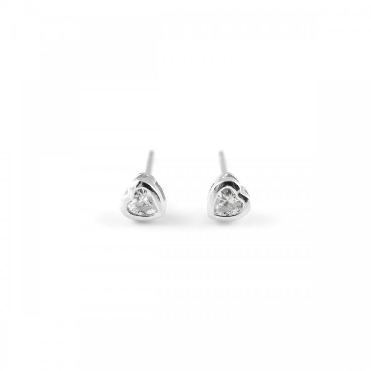 Kolczyki srebrne - serduszka- 0051