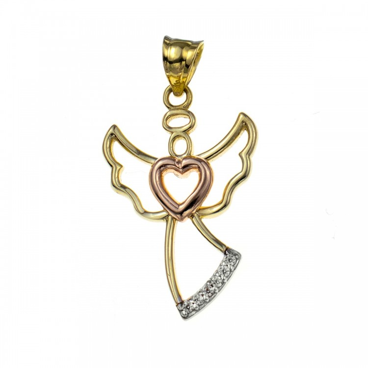 Zawieszka złota - anioł