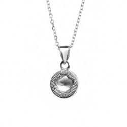 Zawieszka srebrna z białą cyrkonią